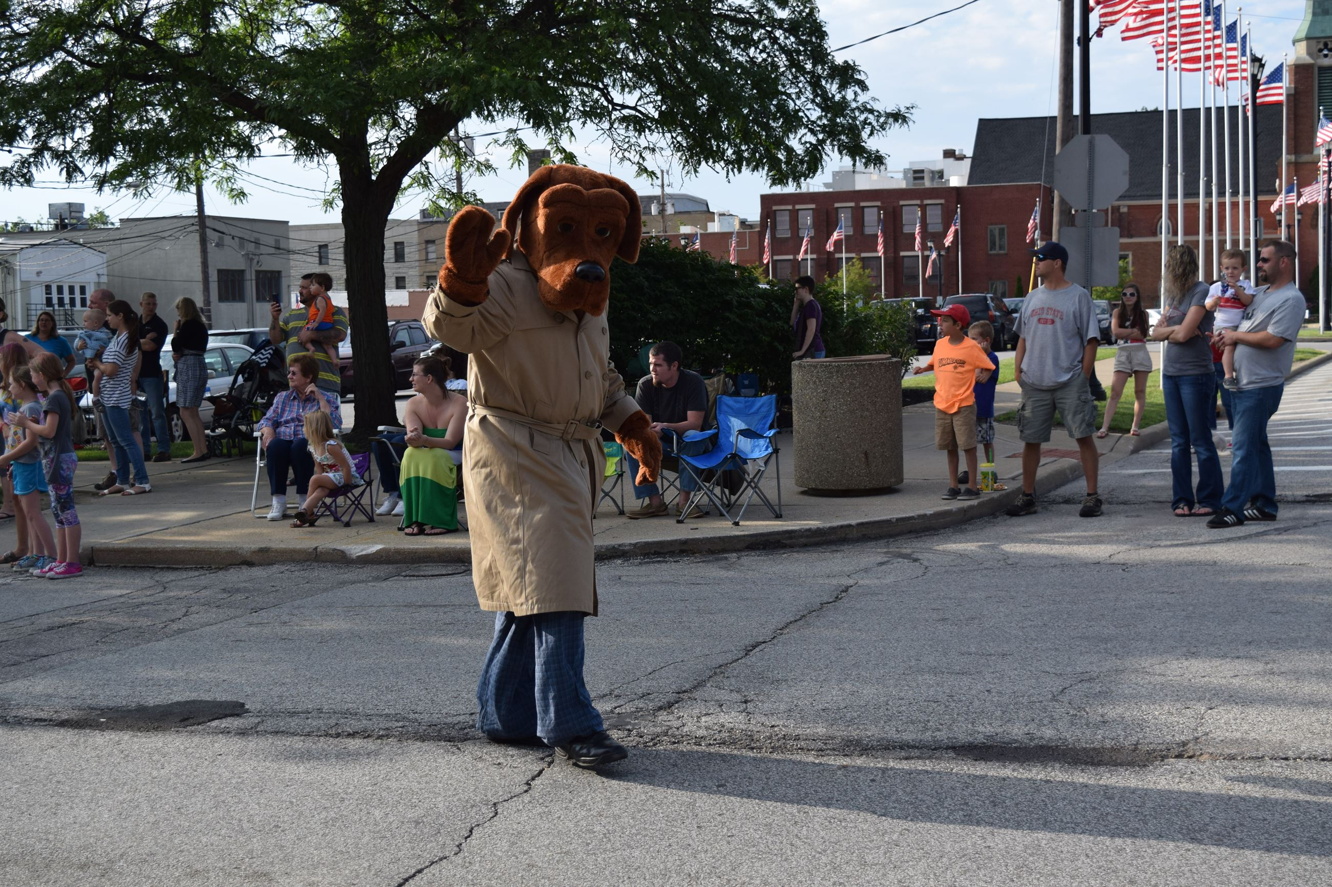 McGruff walking in Parade
