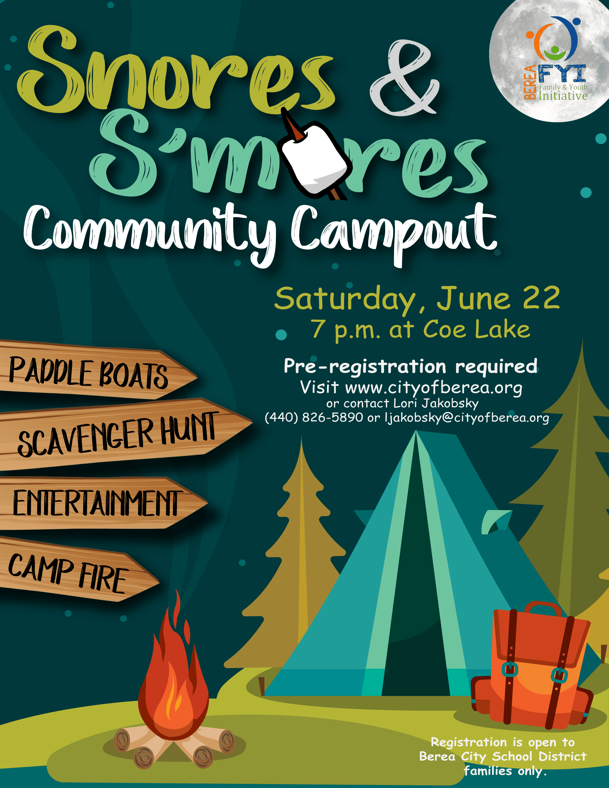 Snores-and-Smores-Flyer-Event Flyer