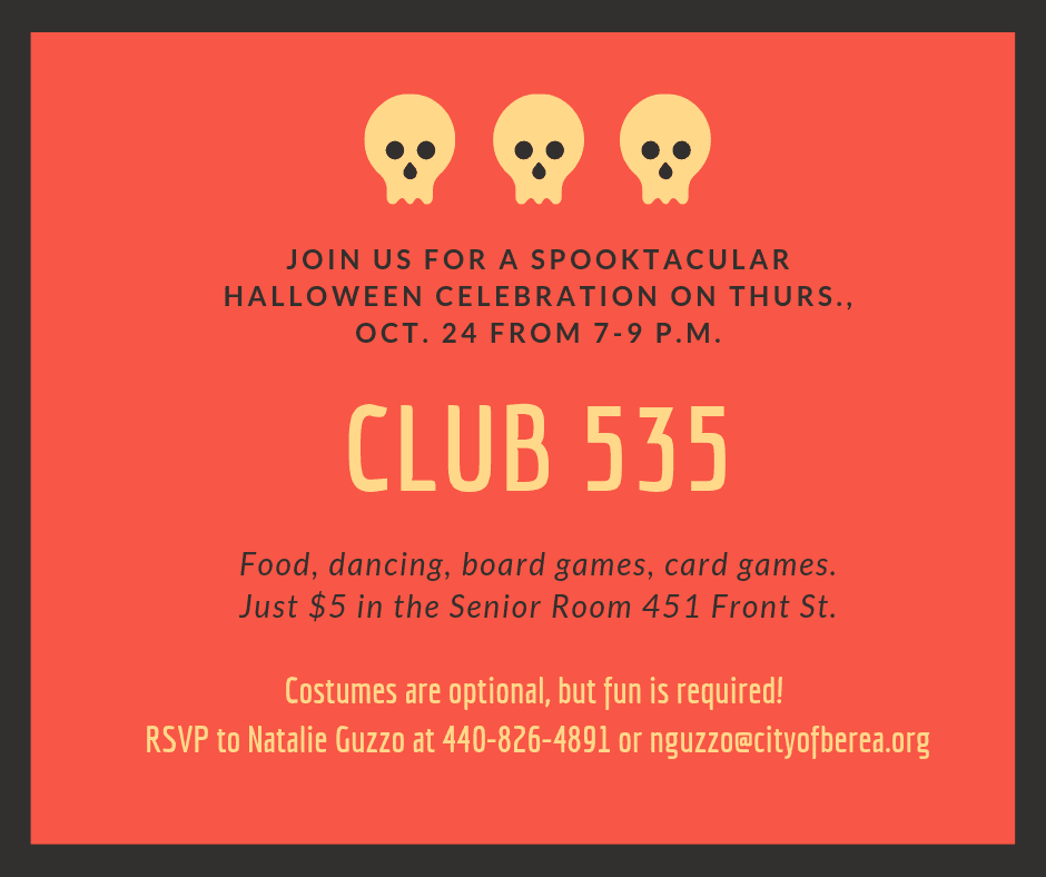 Club 535 Halloween Party Flier