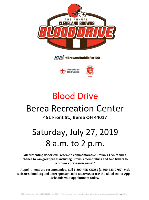 Browns Blood Drive
