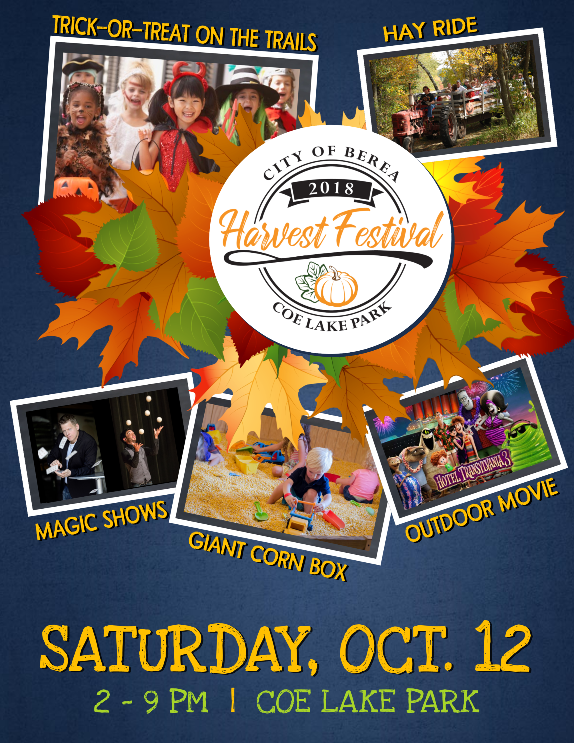 Harvest Fest Flyer with picutres and schedule of events