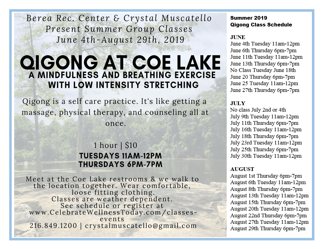 2019 QiGong at Coe Lake